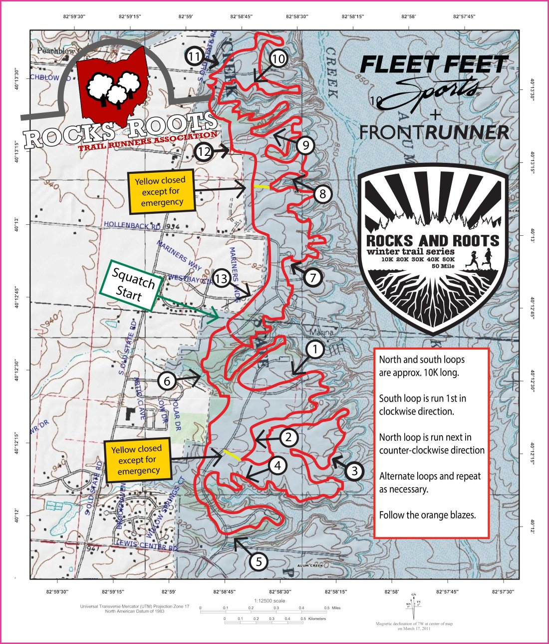 RRTRA TRAIL MAP Winter Series 2017 SCW NCCW